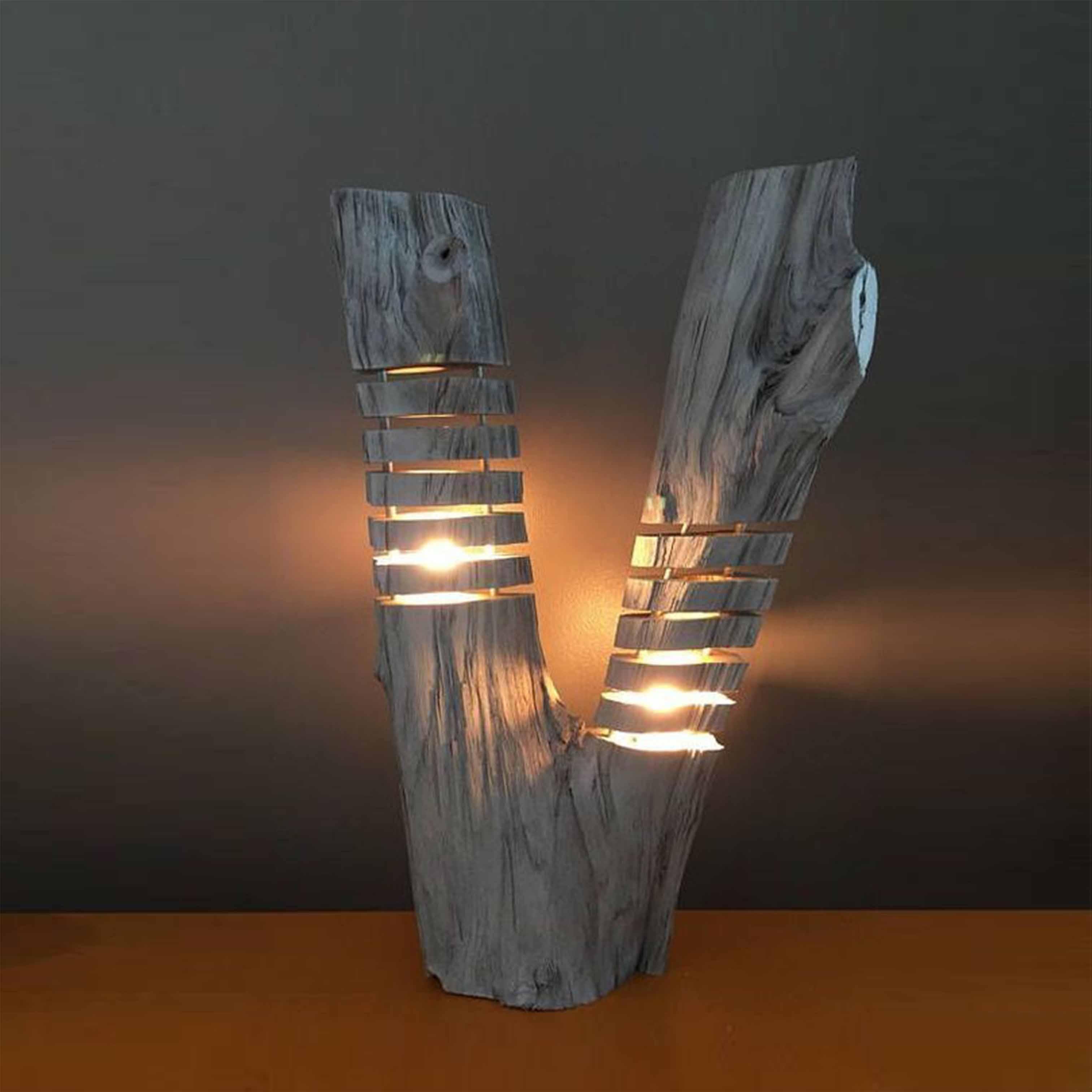 Đèn gỗ trang trí nghệ thuật - D42LHFU