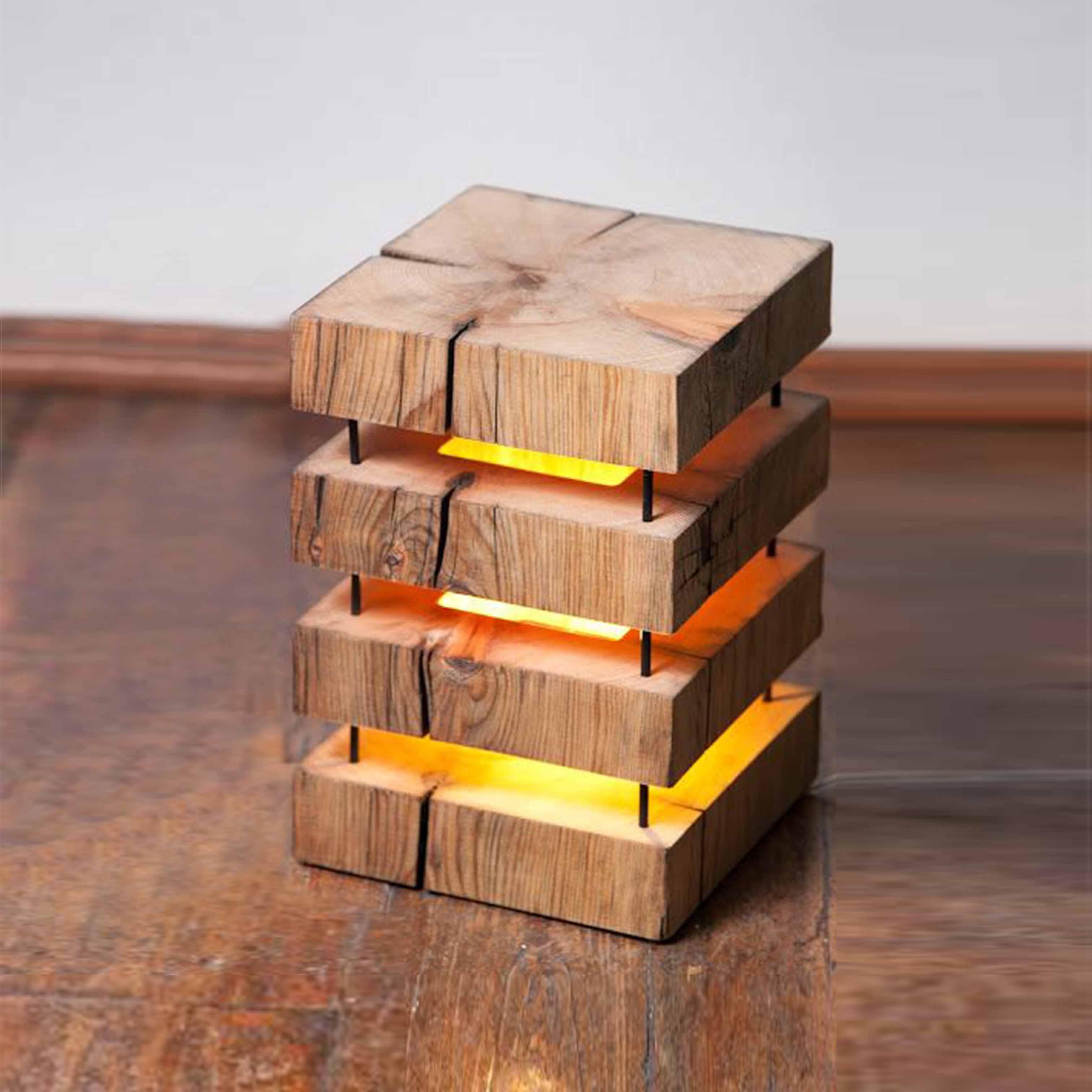 Đèn gỗ trang trí nghệ thuật - D43LHFU