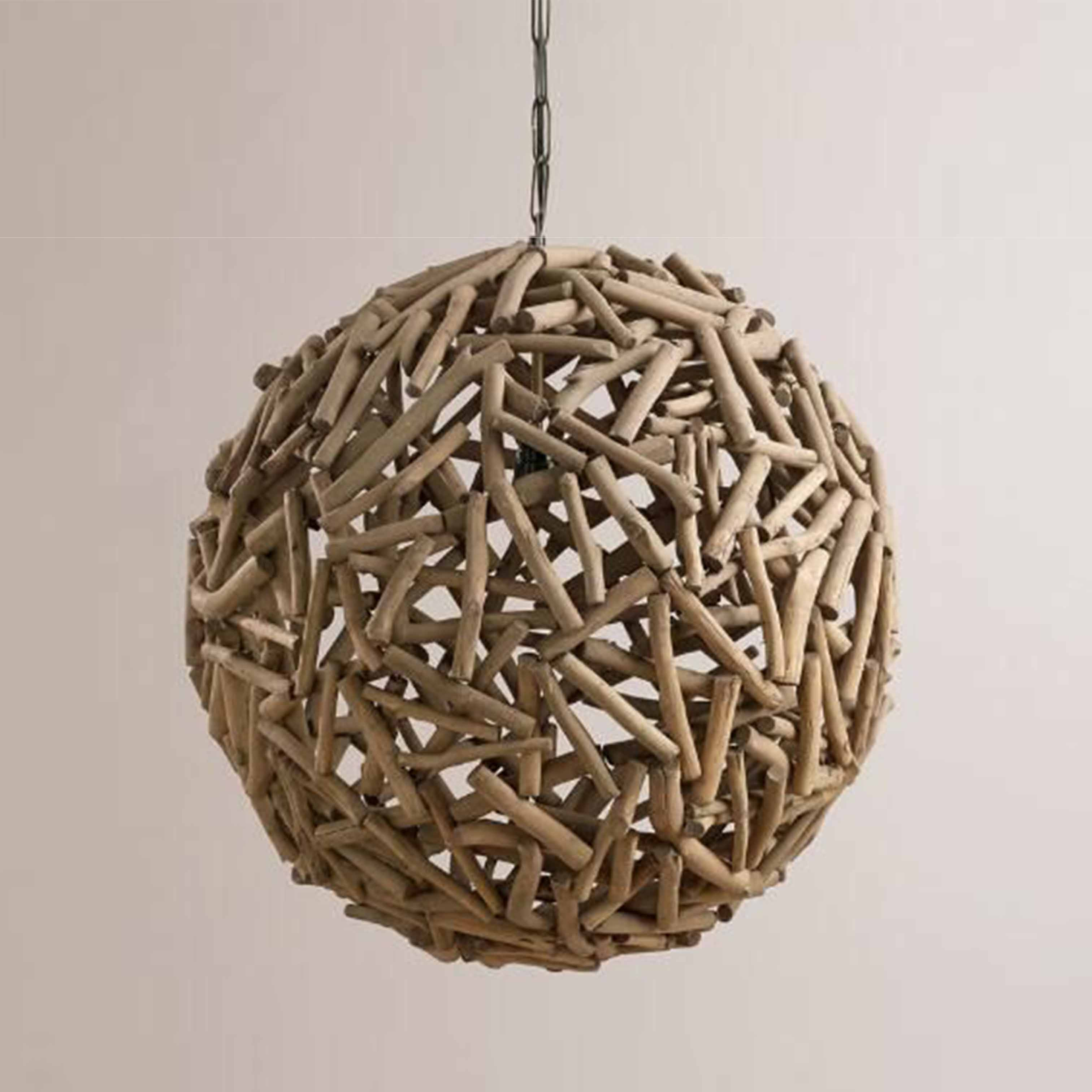 Đèn gỗ tròn trang trí nghệ thuật - D45LHFU