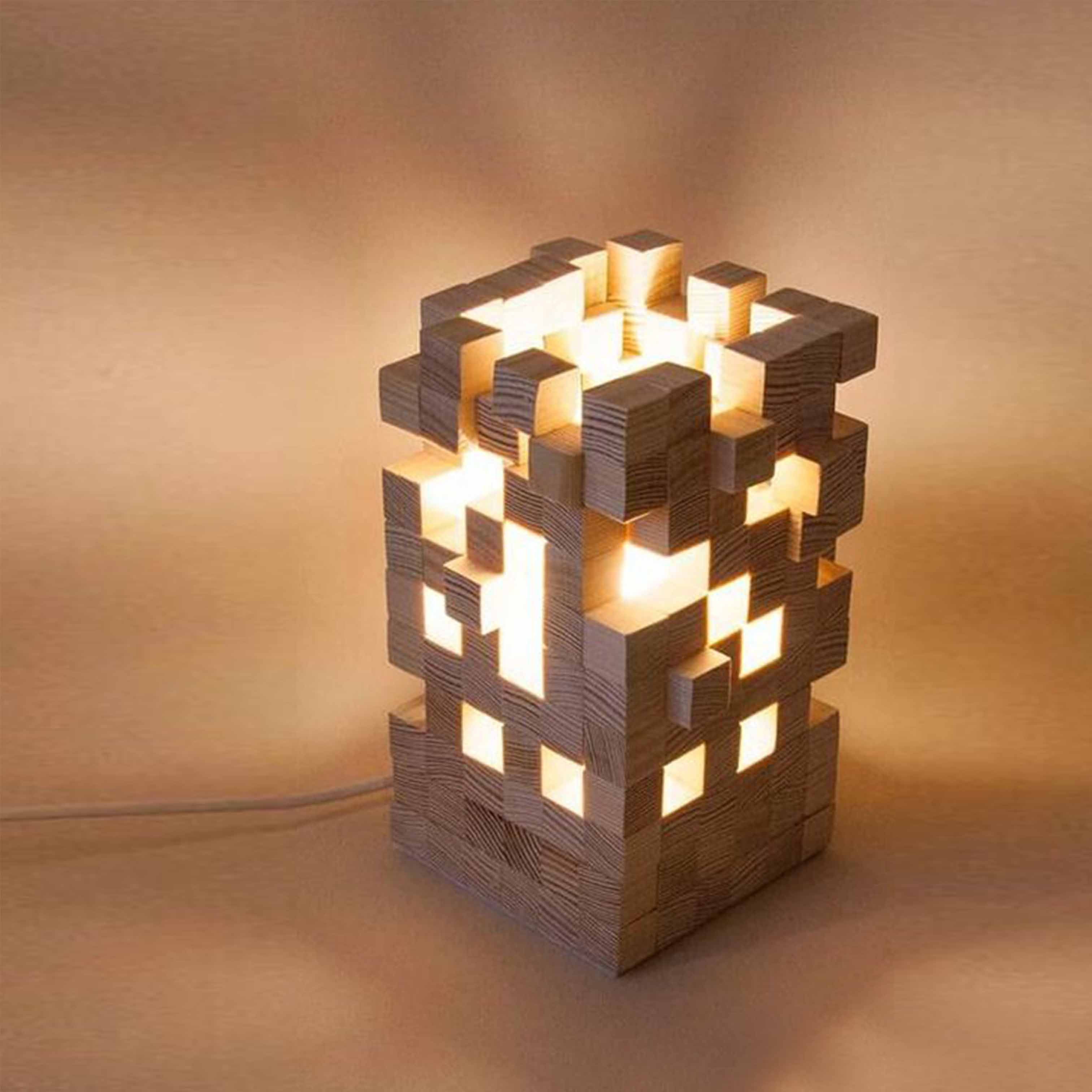 Đèn gỗ trang trí nghệ thuật - D49LHFU
