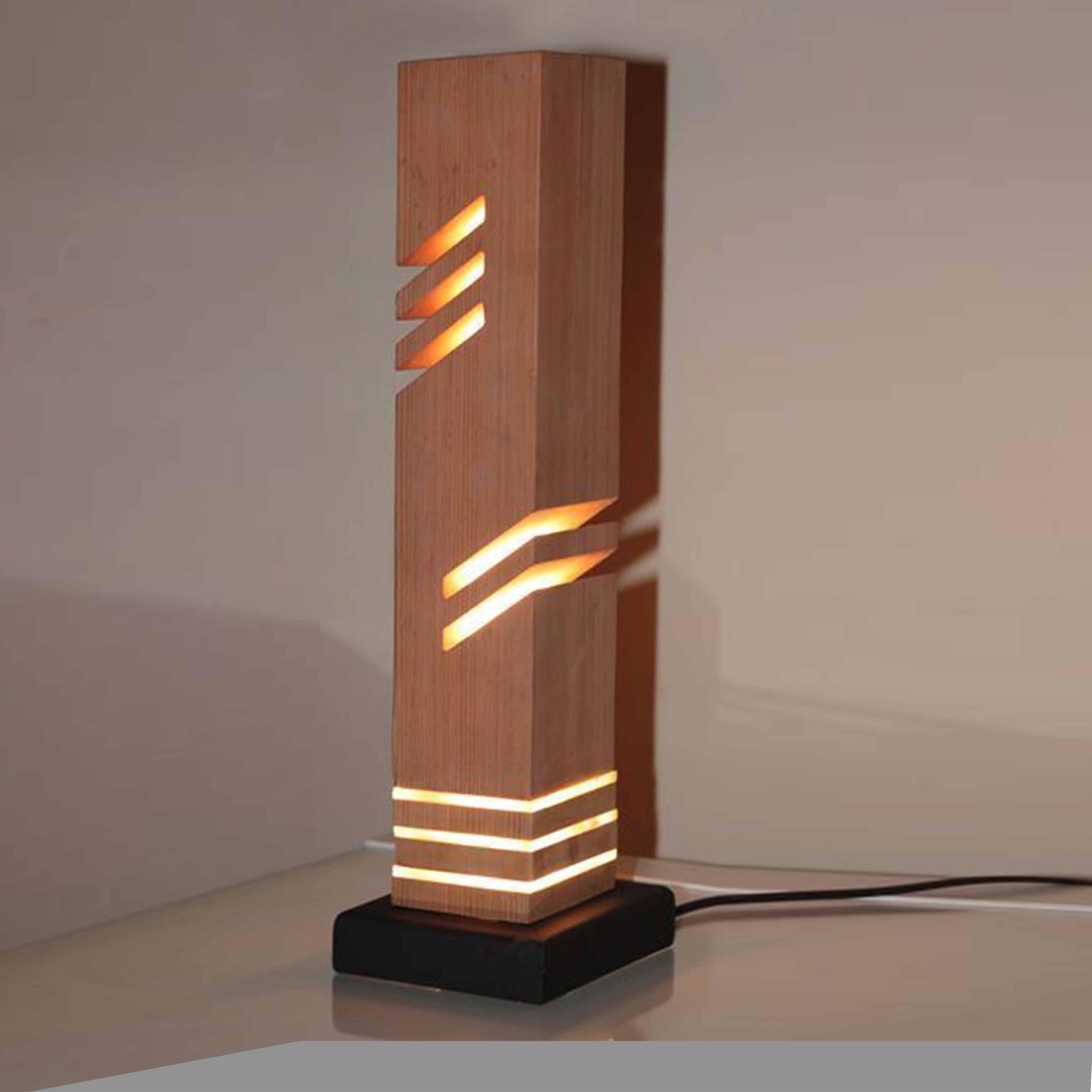 Đèn gỗ trang trí nghệ thuật - D50LHFU