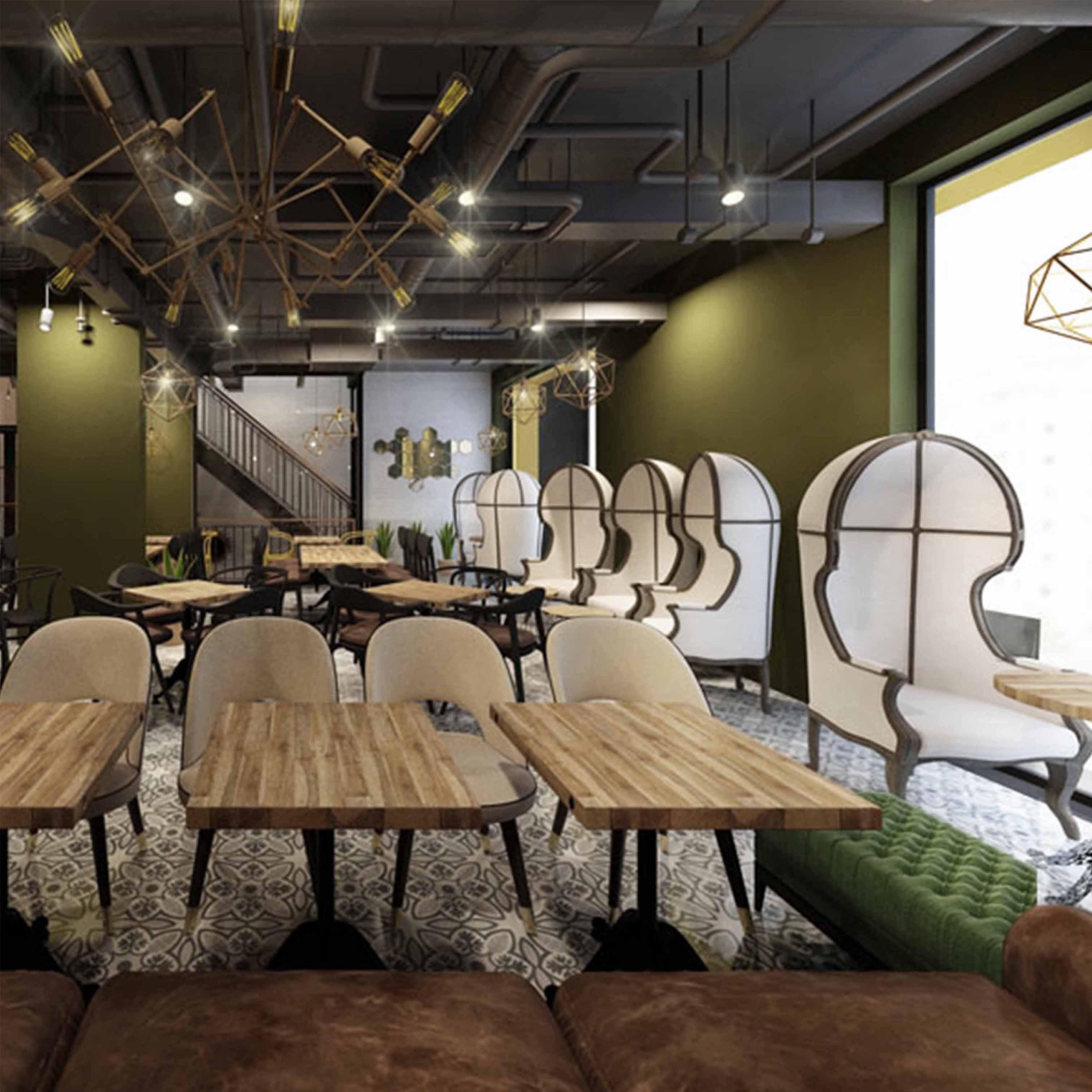 Thiết kế quán cafe theo phong cách Rustic - TK22LHFU