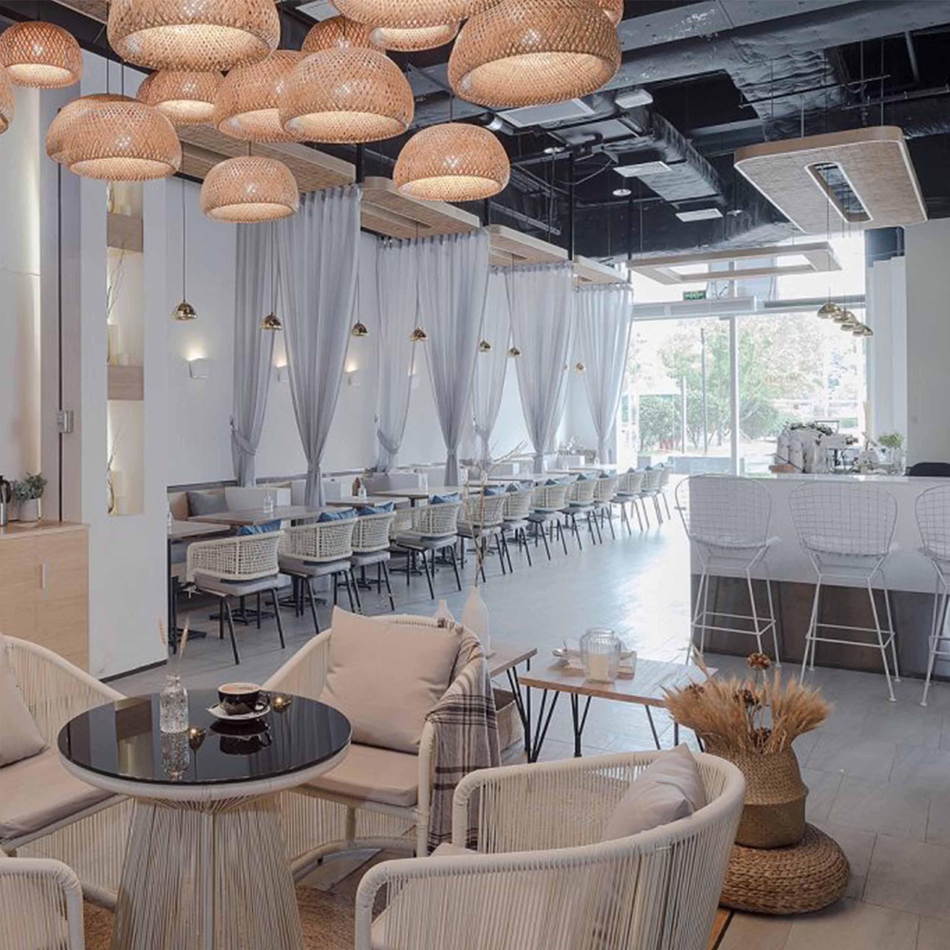 Thiết kế nội thất quán cafe kết hợp giữa phong cách Phương Tây và Phương Đông - TK24LHFU