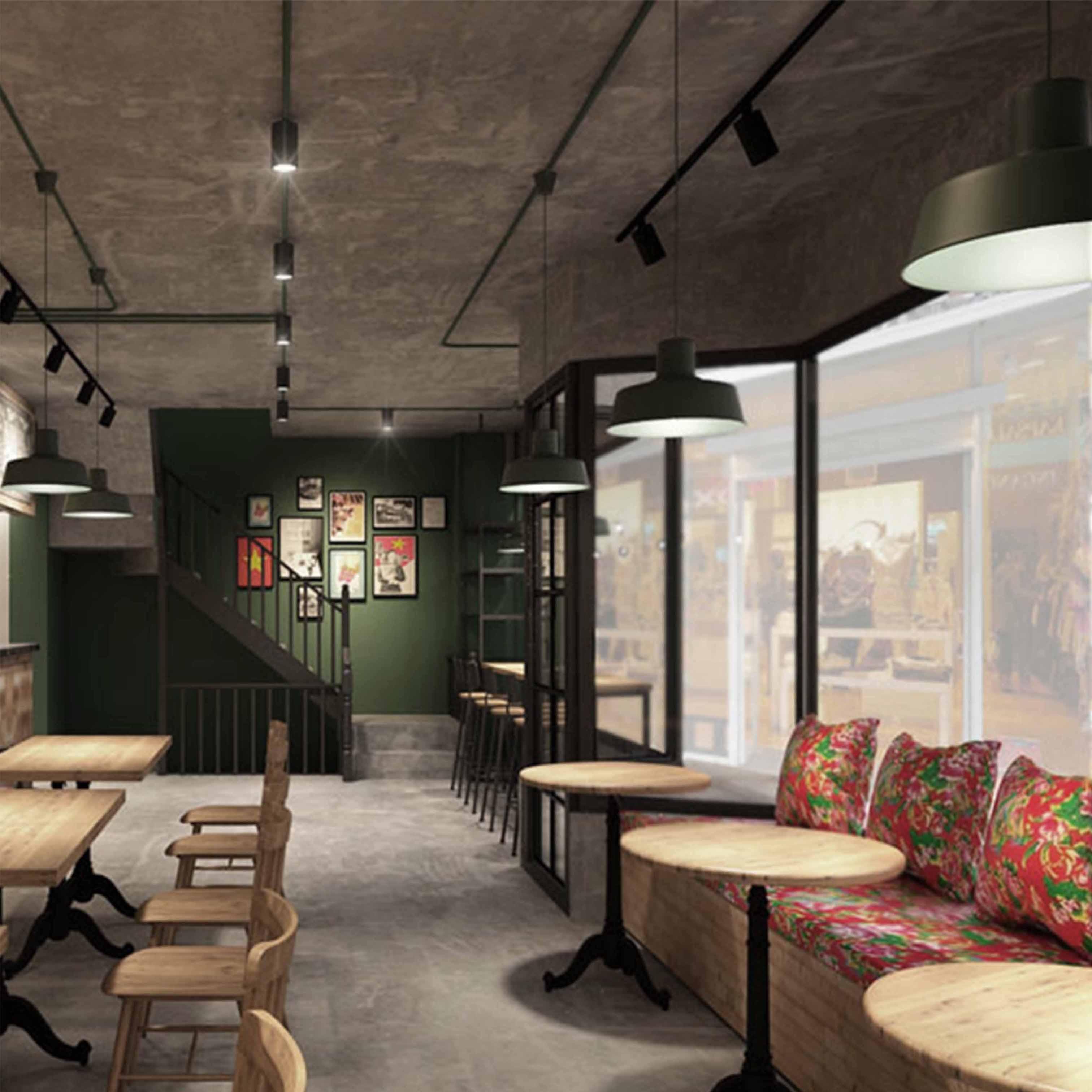 Thiết thiết kế quán cafe theo phong cách Việt Xưa - TK27LHFU
