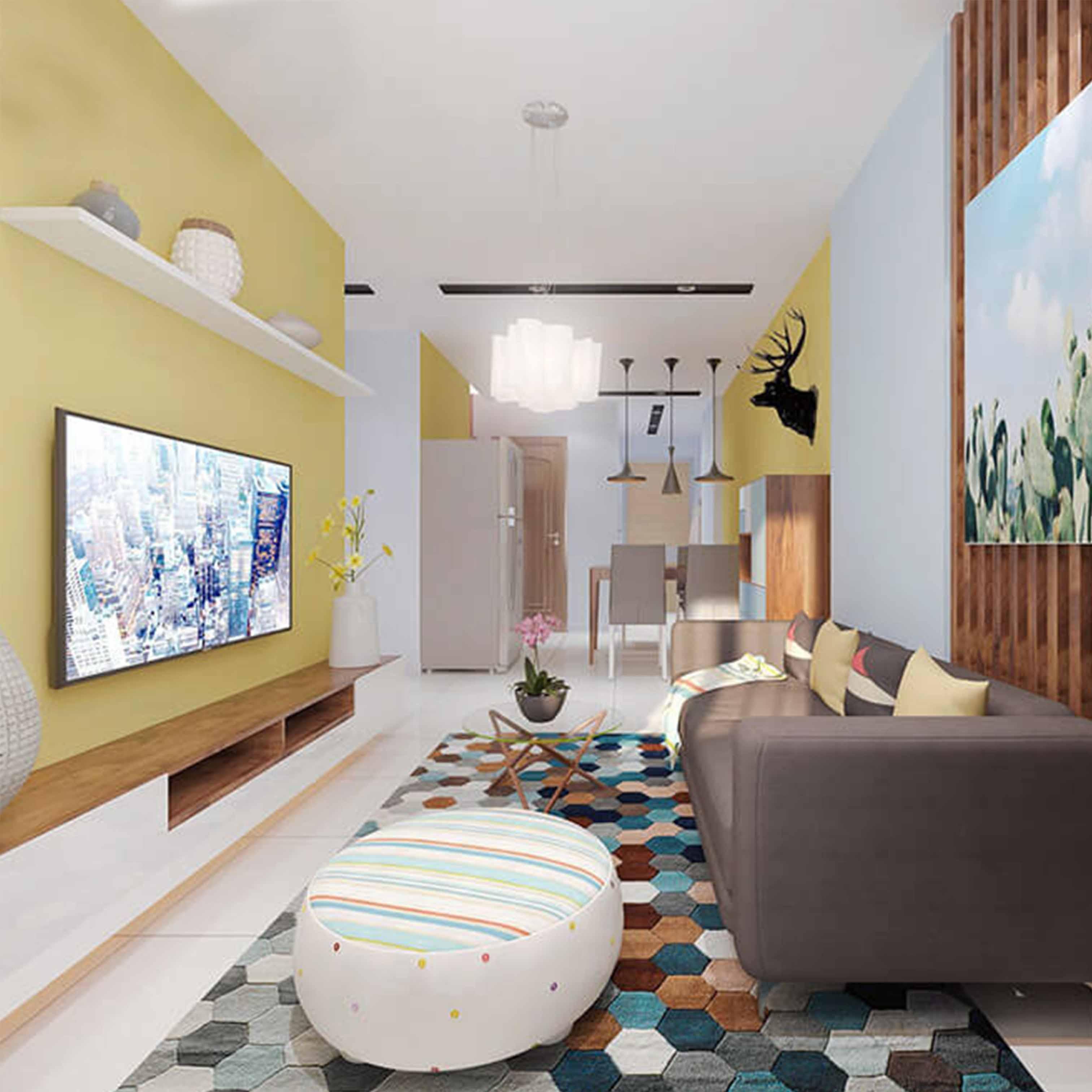 Thiết kế nội thất chung cư căn hộ 3 phòng ngủ diện tích 80m2 - TK7LHFU